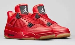 Tenis AirJordan 4 Retro Fire Red Singles Day 2018 Importado