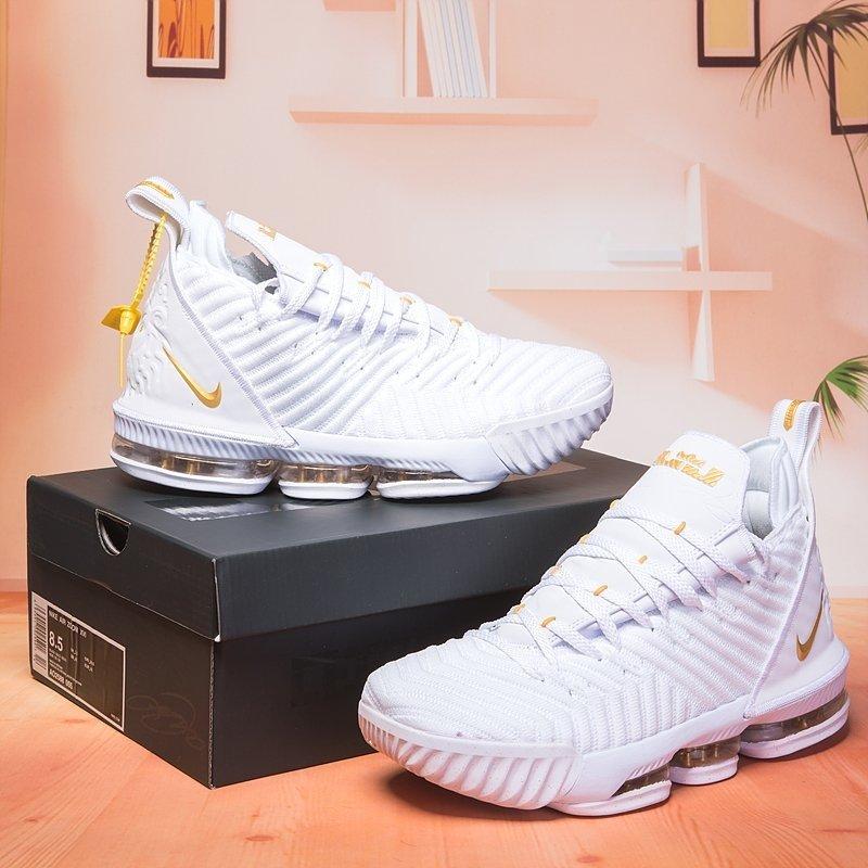 comprar online 65d18 91df8 Tenis Nike Lebron James XVI 16 Importado All White