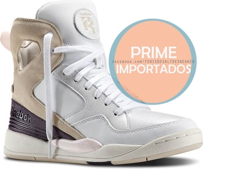 Tênis Reebok Casual Shoes Alicia Keys COURT White  Stucco  Portrait Purple  Chalk  Pink  - comprar online