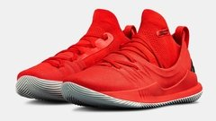 Tênis Under Armour Curry 5 Low All Red Basketball