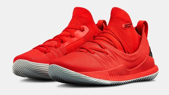 Tênis Under Armour Curry 5 Low All Red Basketball - comprar online
