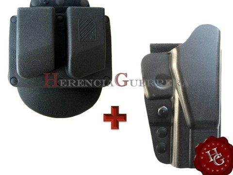 Combo Funda Houston K41 Ext Bersa Thunder PRO + Portacargador Doble Houston
