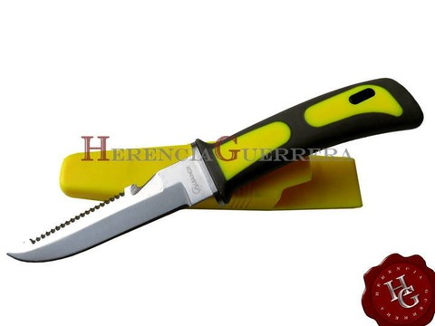 Cuchillo Submarino Buceo Martinez Albainox 31333AM Amarillo