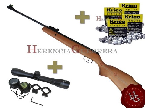 Combo Rifle Crosman Optimus 5.5 mm Aire Comprimido (Mira CenterPoint 4x32 +400 Balines) - comprar online