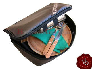 Kit de Asado 2P  Eco Cuero - Marron
