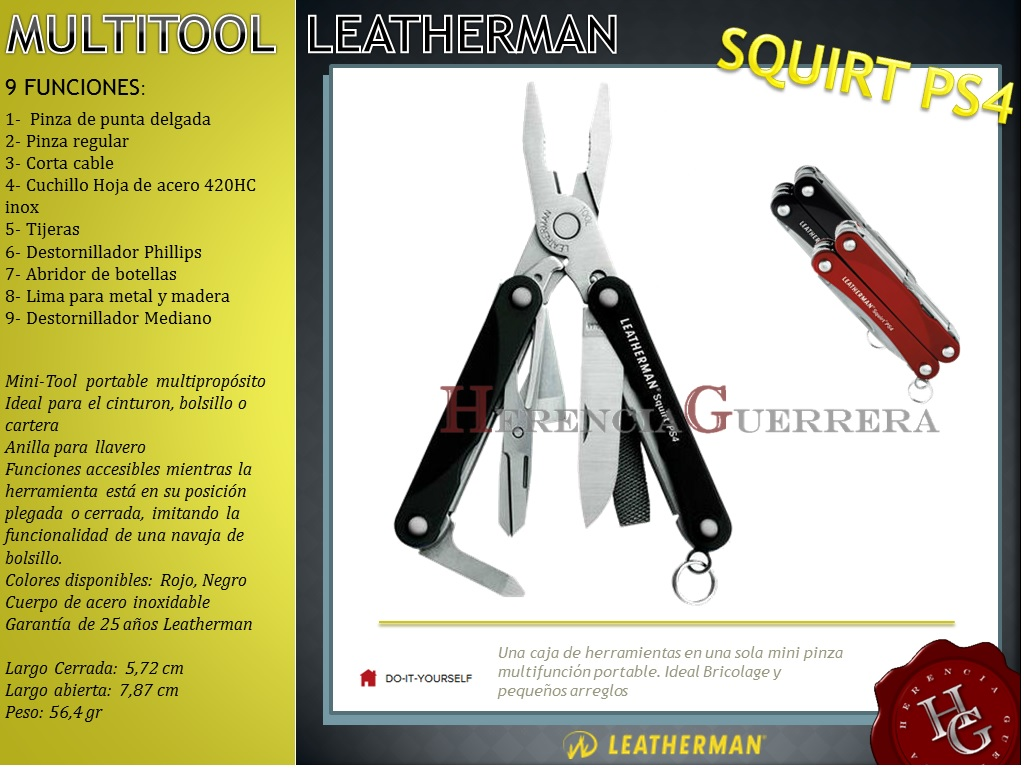 Squirt PS4 Leatherman Pinza