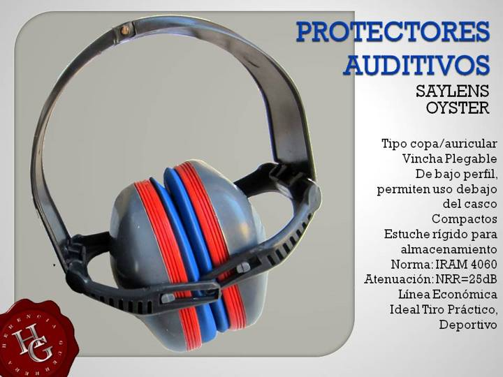 Protectores Auditivos Saylens Oyster 25db