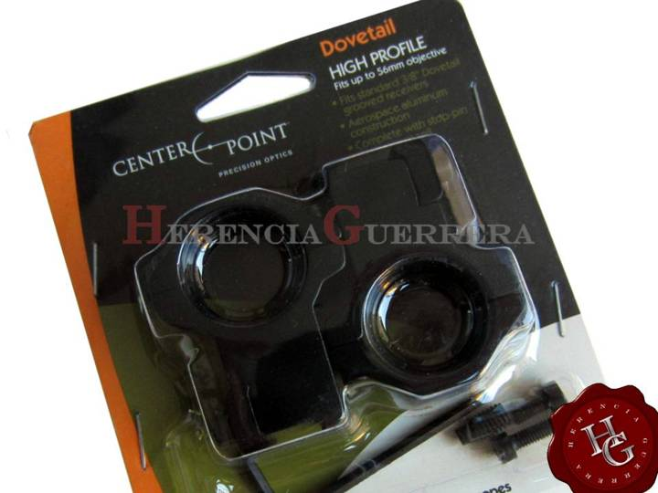 Anillas Crosman Center Point Montaje Aluminio Altas Tubo 30mm Riel 11mm CPM2PA-30H