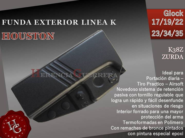 Funda Houston Linea K Ext Glock K38Z Zurda
