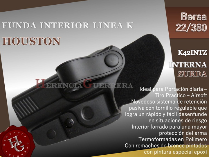Funda Houston Linea K Interna Zurda Bersa 22/380 K42INTZ