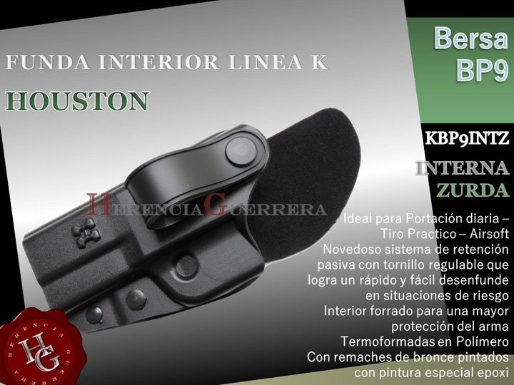 Funda Houston Linea K Interna Zurda Bersa BP9 KBP9INTZ