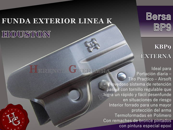Funda Houston Linea K Ext Bersa BP9 KBP9