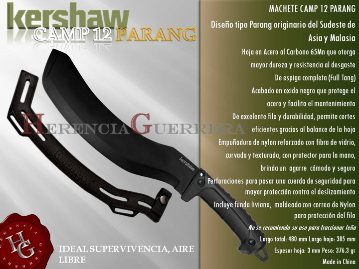 Machete Kershaw Camp 12 Parang Hoja 30 cm