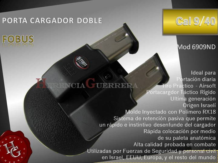 Portacargador Doble 9/40 Fobus 6909ND