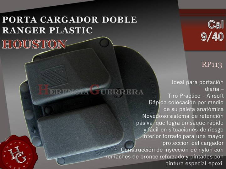 Portacargador Doble Ranger Plastic Houston Cal 9/40