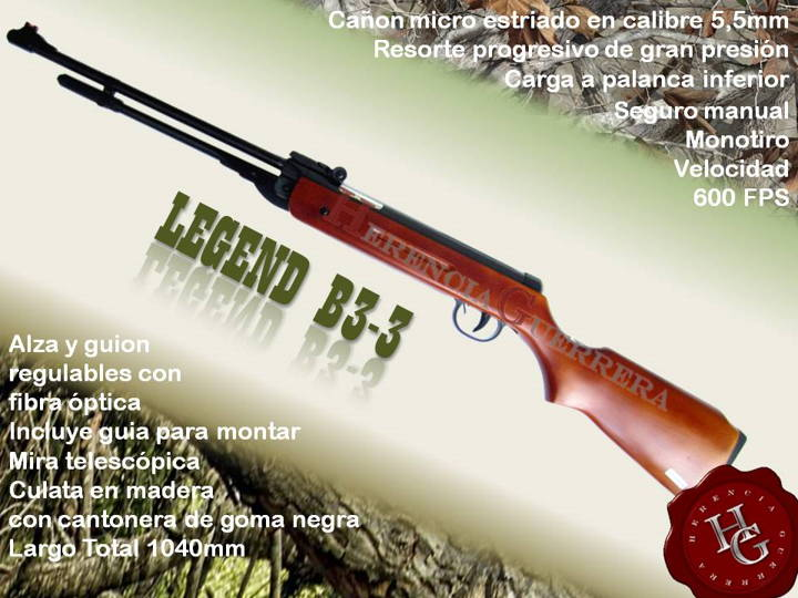 Rifle Legend B3-3 5.5 mm Aire Comprimido