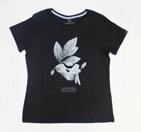 Remera Cover Negra Mujer - comprar online