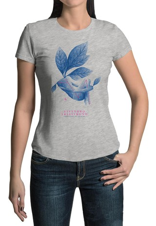Remera Coverblue Gris Mujer