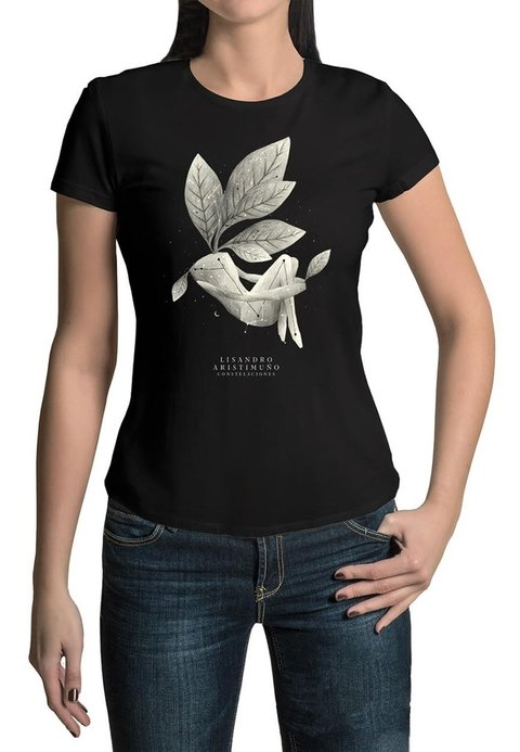 Remera Cover Negra Mujer
