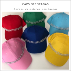 Caps de colores decoradas - Pack x 10