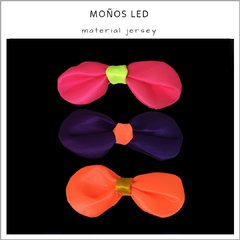 Moños fluo Led - Pack x 10