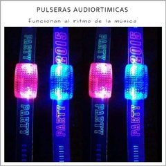 Pulsera Audioritimica Led - Pack x 10