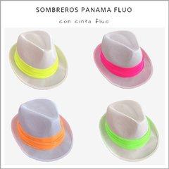 33ca14b34accb Sombrero Panama fluo - Pack x 10 - Panamá Cotillón