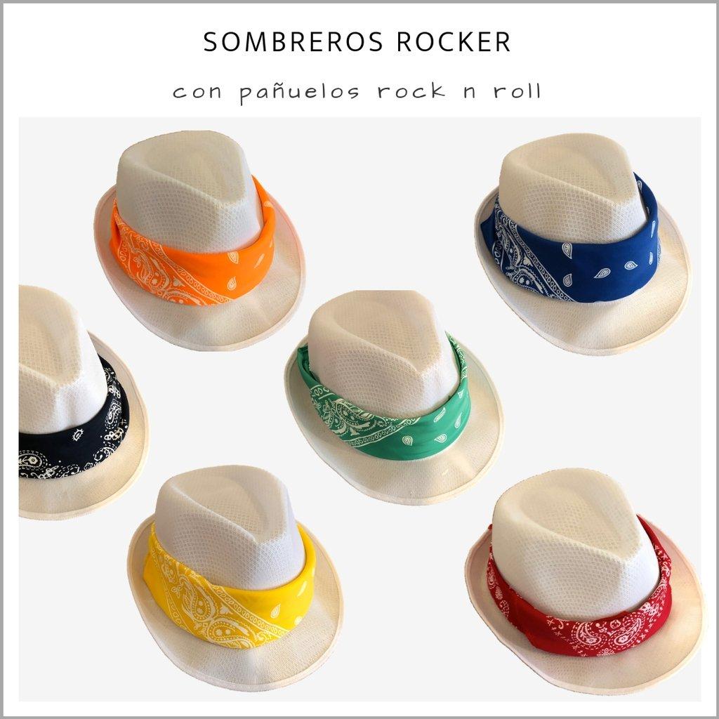 d74d42038e3f2 Sombrero Rocker - Pack x 10 - Panamá Cotillón