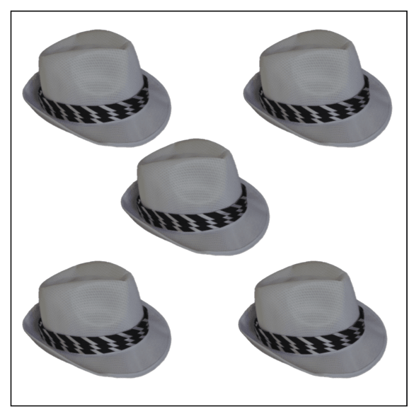 d1fde7acb84a8 Sombrero Panamá Rayas Blanco - Pack x 10