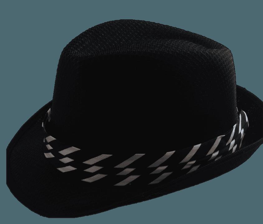 d17f9c434b4c6 Sombrero Panama rayas negro - Pack x 10. 1