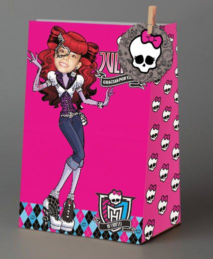 Monster High // Bolsitas de papel personalizadas - Fiestas Cancheras