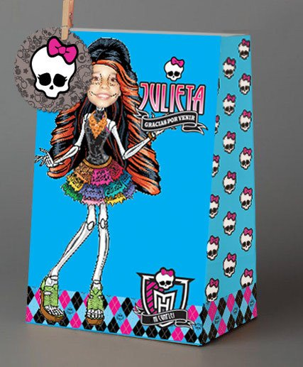 Monster High // Bolsitas de papel personalizadas