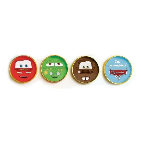 Moneditas chocolate personalizadas // Cars en internet