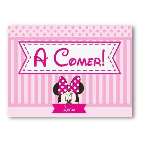 Individuales de papel // Minnie - Fiestas Cancheras