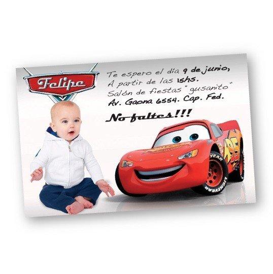 Invitaciones Personalizadas De Cumpleaños De Cars