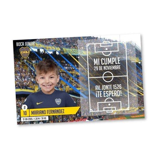 Boca Juniors Fútbol Invitaciones Para Cumpleaños