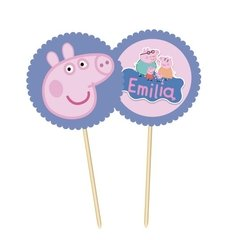 Peppa Pig // Toppers personalizados - Fiestas Cancheras