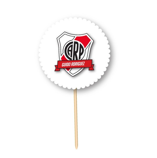 River Plate Fútbol // Toppers personalizados en internet