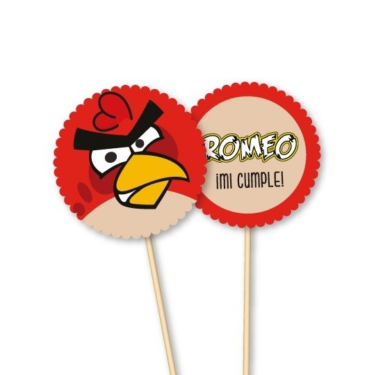 Angry Birds // Toppers personalizados en internet
