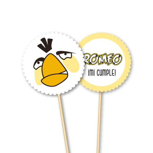 Angry Birds // Toppers personalizados - Fiestas Cancheras