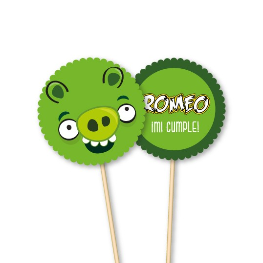Angry Birds // Toppers personalizados - tienda online