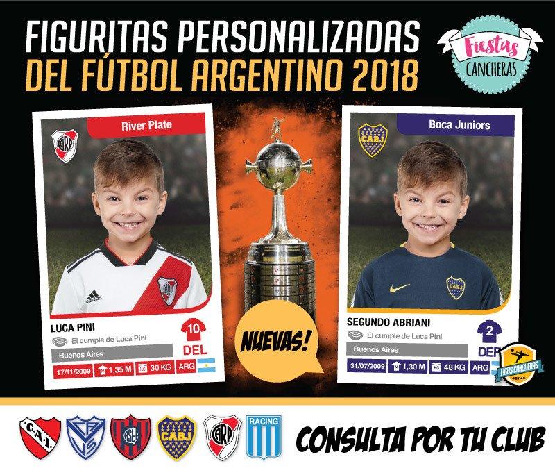 Figuritas Personalizadas del FÚTBOL ARGENTINO 2018