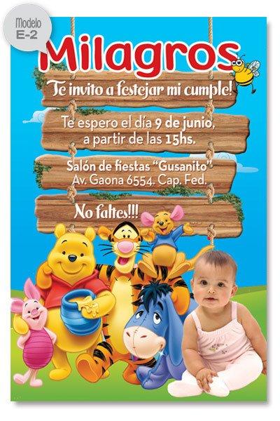 Invitaciones Personalizadas De Cumpleaños De Winnie Pooh