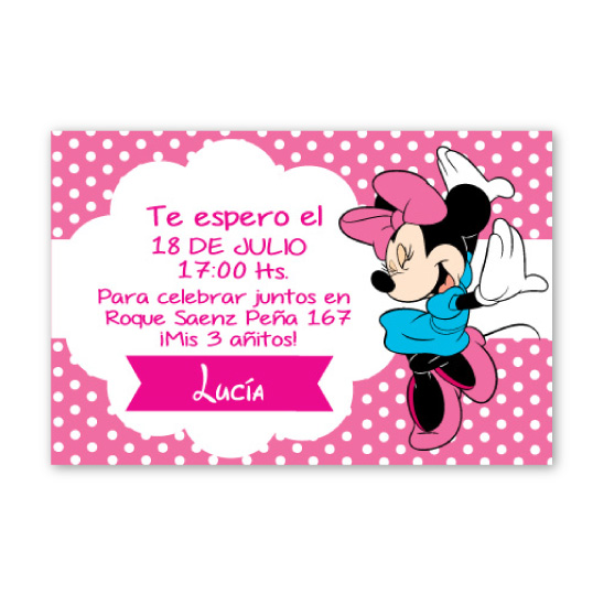 invitacion de Minnie
