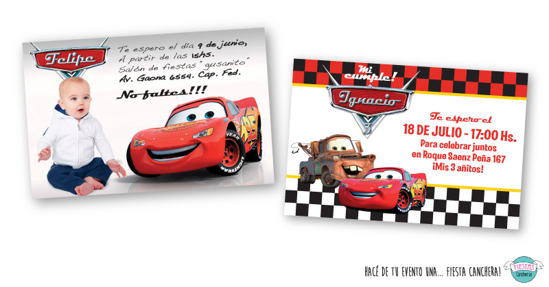 invitaciones originales de cars
