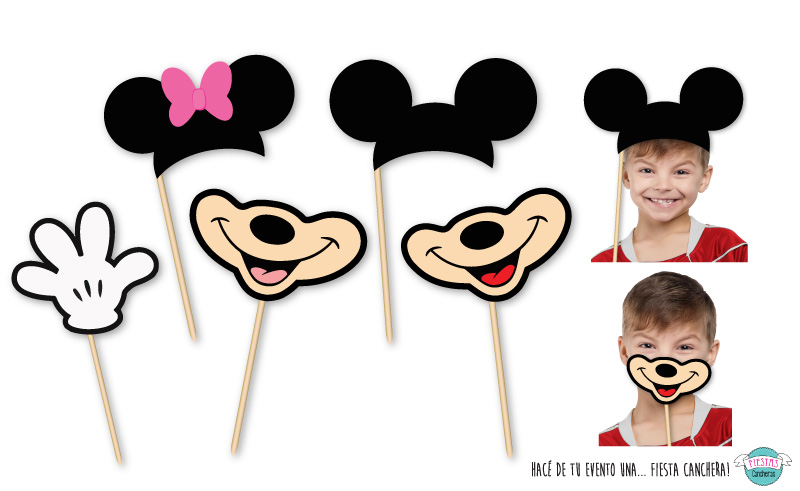 Caretas para photo booth de Minnie