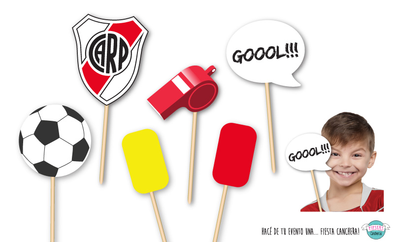 Caretas para photo booth de River Plate Futbol