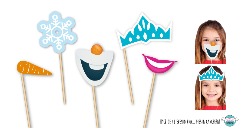 PROPS para photo booth de Frozen