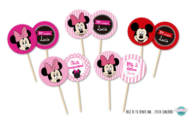 toppers Minnie y Mickey