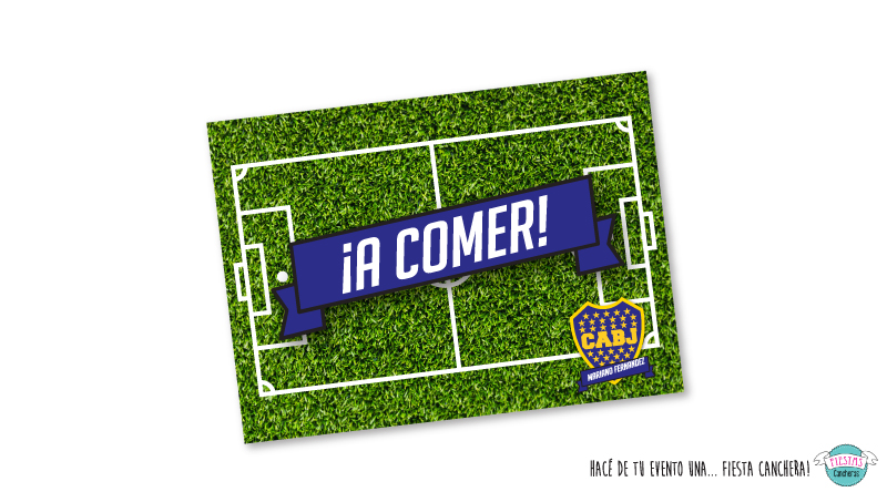manteles de papel boca juniors